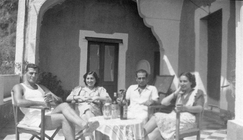 Raffaele, Maria, Vito e Carolina D'Aiello. About 1945.